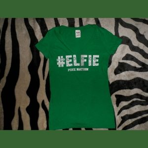Victorias Secret PINK Elfie Nation Selfie T-Shirt